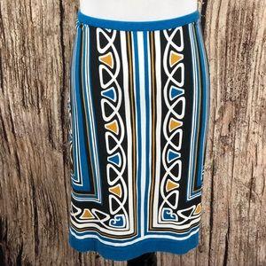 Ann Taylor Loft Geometric Print Skirt Petite 8P